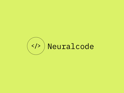 Neuralcode Logo ai machine learning simple green logo design brand identiy brand coding icon typography minimalist clean swiss mono