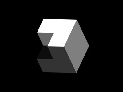 Elevation Logo extrude angle gray black white iconic clean swiss simple branding black and white 3d depth icon design shape minimalist identity logo