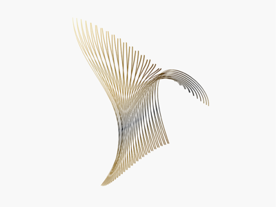 Art simple clean design 3d shape abstract art logo futuristic minimalist brand identity branding graphic design identity gold abstract