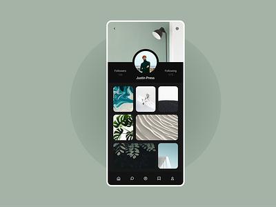 Profile UI Design. uidesigner profiles minimal app design minimalistic minimalist profile product design ui  ux profile design profile page minimal app minimal ui ui minimal uidesign uı dailyui