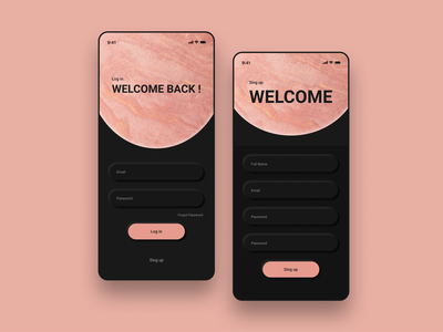Log in / Sing up log in screen log in sing in sing up sign concept design minimal app minimal ui ui exercise minimal uidesign uı dailyui