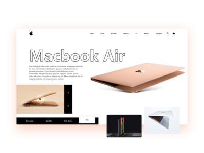 Macbook Air website Redesign.