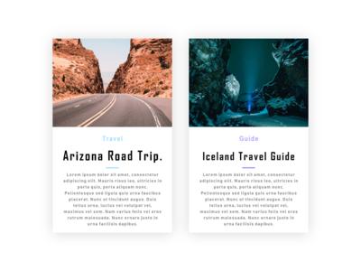 Blog post card design.