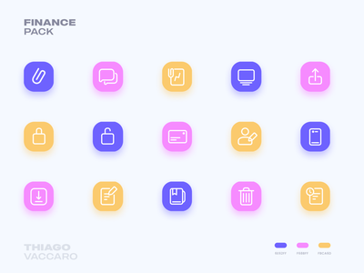 Icon Pack - Finance UI colorful icon pack icons finance app ui interface