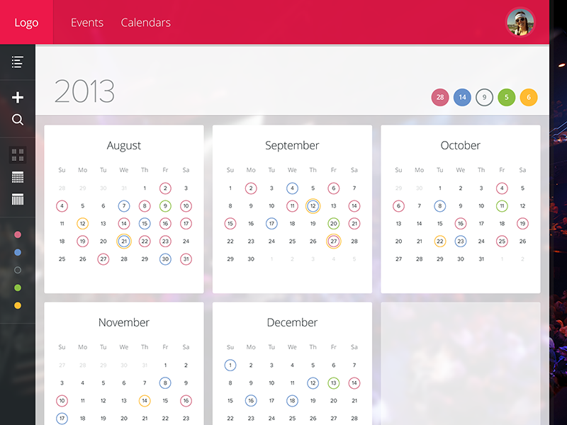 Calendar Booking Ui : Booking calendar overview by ethan leon dribbble