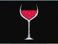 Rhinestone Red Wine Glass