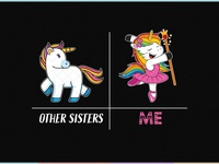 Cute Unicorn Sister