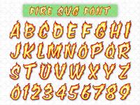 Fire Vector Font | Vector Art