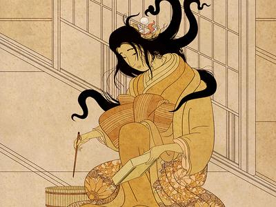 Yōkai Series: Futakuchi-onna