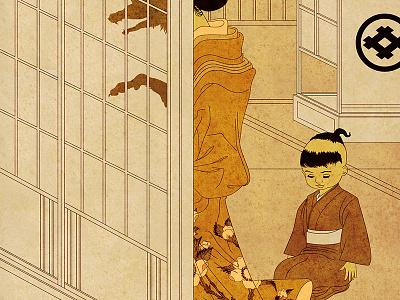 Yokai Series: Megitsune ghost monster megitsune kitsune yokai japanese japan poster illustration