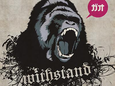 Violent Nature violent nature gorilla withstand poster illustration vector