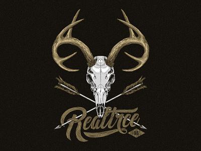 Deer Skull Illustration realtree outdoors deer vector illustrator illustration