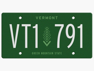 State Plates Project - Vermont