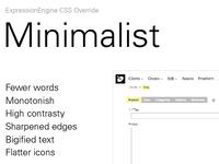 Microsite for Minimalist