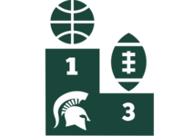 Msu Top3 In  Basketball And Football  Dribbble Shot