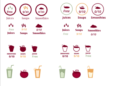 Juices Smoothies Soups App Icons