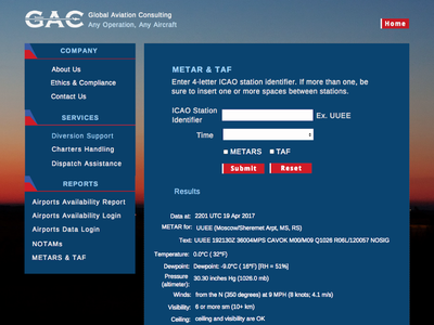 Global Aviation Consulting Website Design