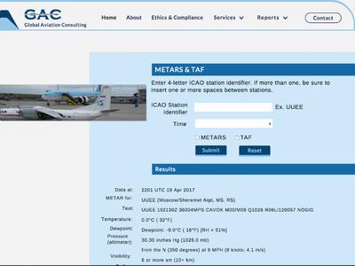 Global Aviation Website Design
