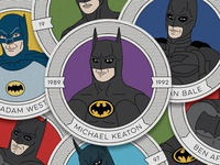 Batmen Through the Ages Coaster Set