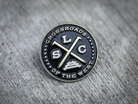 SLC Crossroads Enamel Pin