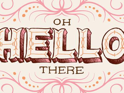 Hello illustration lettering