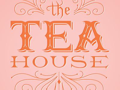 The Tea House Logo logo lettering typography