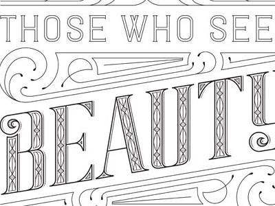 Beauty lettering design type beauty
