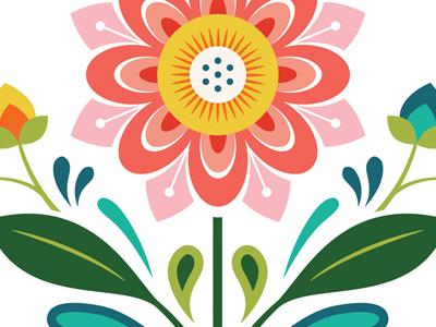 Floral illustration design floral flower
