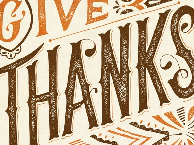 Give Thanks lettering hand-lettering illustration thanks thanksgiving give