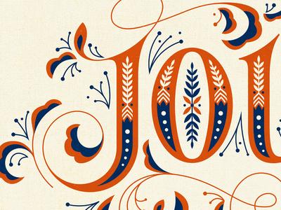 Joy Print lettering typography illustration