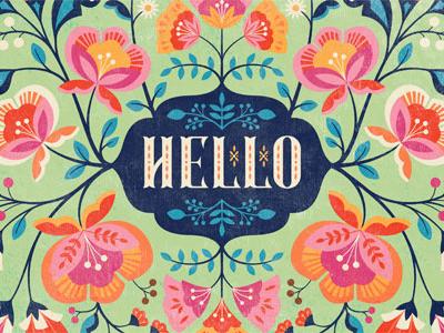 Hello Floral Illustration illustration pattern surface design floral