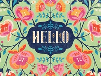 Hello Floral Illustration