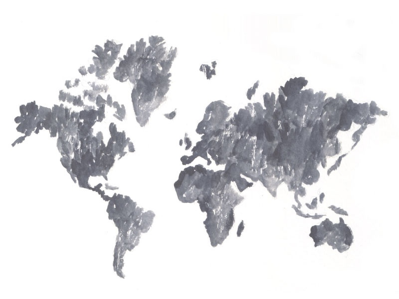 World map watercolor sketch by jessica roush dribbble gumiabroncs Choice Image