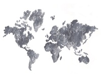 World Map Watercolor Sketch
