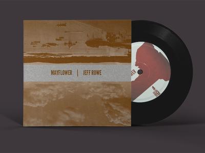 Mayflower/Jeff Rowe Split print music vinyl ep album layout