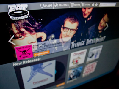 Fat Wreck Site music industry website responsive music