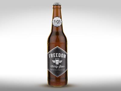 Freedom 35 Bottle beer packaging bottle branding