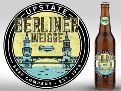Berliner weisse label beer package packaging bottle berlin logo lockup
