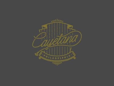 Cayetana philadelphia band logo line crest identity pennsylvania