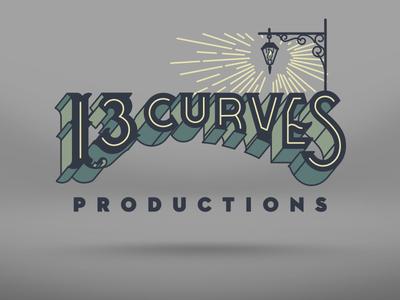 13 Curves Logo logo identity lantern hand lettering