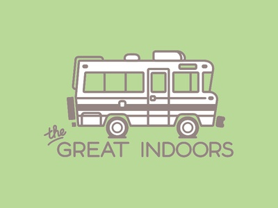 Great Indoors branding logo illustration
