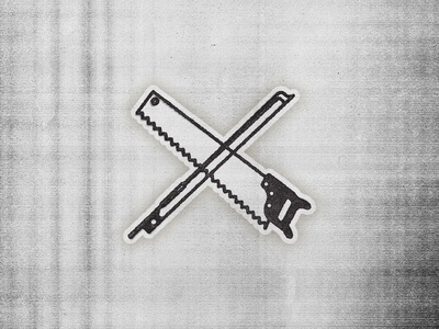 Saw & Bow bluegrass music illustration line icon bow saw