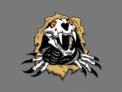 Tiger Brigade Logo tiger illustration skate skateboarding bones brigade powell