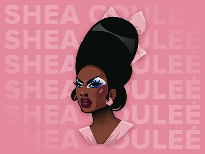 Shea Couleé portrait as5 shea rpdr vector illustration illustrator illustration vector