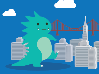 Remotus is arriving SF! illustration design vector ui logo mascot interface web design gozilla