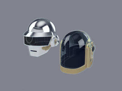 Daft Punk for web daftpunk 3d illustration ux design graphicdesign ui flat