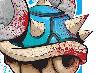 Blue Shell Death mario kart blue shell of death