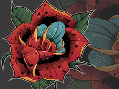 Rose  vector adobeillustrator flower rose