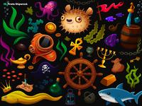 Garmin | Adventure Trail / 05. Pirate Shipwreck props
