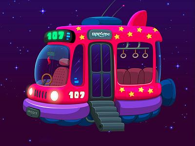 Berry Game / Map 3.5 app illustration game art game design stars universe cosmos space casual game videogame game space travel minivan minibus villa urquiza 107 bondi bus